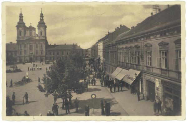 Pohled Masarykovo náměstí 1946