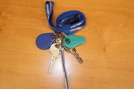 Svazek klíčů s čipy