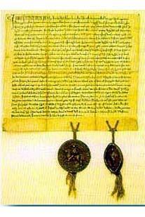Zakládací listina města z roku 1257