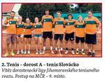 sportovní kolektivy - Tenis dorost A